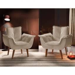 Título do anúncio: Poltrona Decorativa em Veludo, Toque Macio e Super Confortável - Pronta Entrega