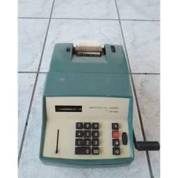 R$100 Calculadora antiga azul Remington com bobina