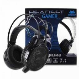 Fone Headset Gamer 7.1 Pc Knup Kp402 P2 Usb Led Microfone