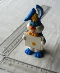 Colecionável - Miniatura Brinquedo - Coelho Azul De Plástico
