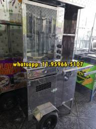Maquina de churrasco grego inox