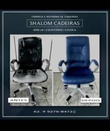 Reformas de cadeiras e fábrica