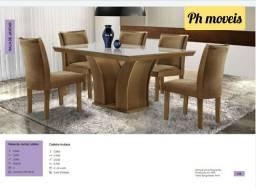 Mesa leblon com 6 cadeiras * * *