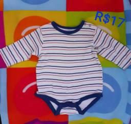 Body Infantil Masculina  6 meses