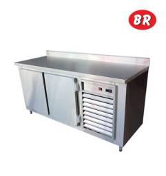 Balcão Chopp Refrigerado Chopeira Aço Inox Para 2 Barril