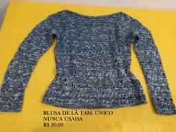 Blusa manga longa de lã