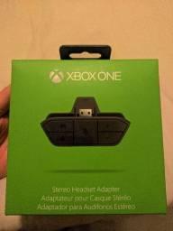 Adaptador original estereo headset para ouvir som do jogo xbox one