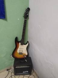 Guitarra Strato Eagle STS002 + Cabo + Capa