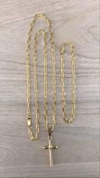 Conjunto Cartier banhado a ouro