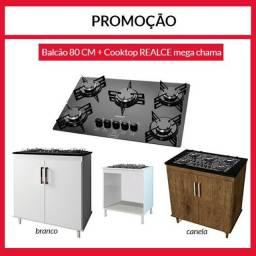 Fogão Cooktop mais balcão mega promoção