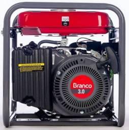 Gerador a Gasolina 1,3Kva B4T 1300 com Partida Manual - Branco- *