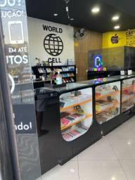 Venda dos móveis de loja para celulares