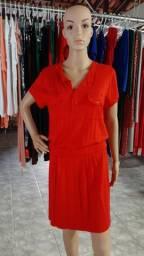 Vestido de manga curta
