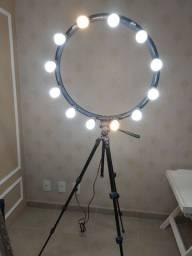 Ring light completo com 12 bocais/lâmpadas