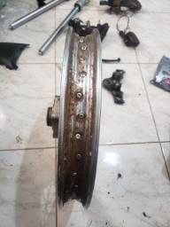 Roda traseira raiada titan / fan 125
