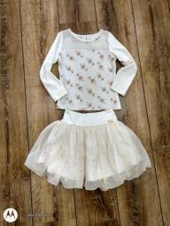 Vestido saia e blusa