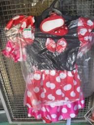 Vestido da Minie PP 1 ano Vermelho
