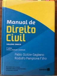 Manual de Direito Civil - Volume Único - Ótimo estado de conservação
