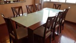 Conjunto Sala Mesa, Cadeiras e Estante