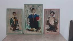 Quadros pintura a óleo motivo infantil 3 unidades
