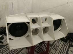 Par de altofalantes oversound de 10 polegadas com projeto pra médio