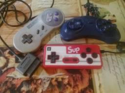 Controles super Nintendo e master System e controle de Mine games