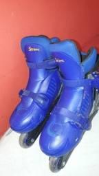 Vendo patins Infantil Completo - Cor azul por R$120,00