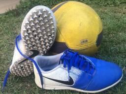 Chuteira Infantil Society Nike Phanton Azul