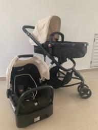 Carrinho e bebe e base conforto safety aceito cartão