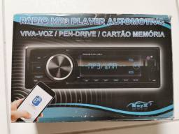 Rádio MP3 USB Bluetooth novo