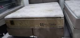 Promoçao Cama Box + Colchao Doux confort queen 158x198 por 2499,99>