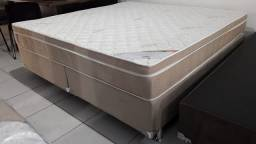 ::Conjunto Cama Box king Colchao Ortobom Light Super Pocket (193x203) Confira""