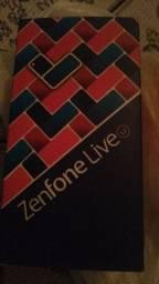 Asus zenfone live na caixa