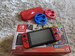 Nintendo Switch Edição Mario Odissey + Volantes