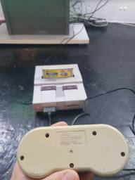 Super Nintendo fat , super Mario.kart original  completo