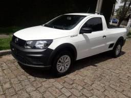 VW Saveiro Robust ano 2021 Completa cor branco 32 km 0KM