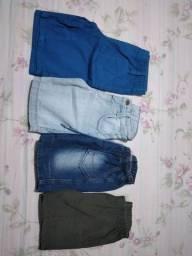 4 shorts tamanho 2 anos menino