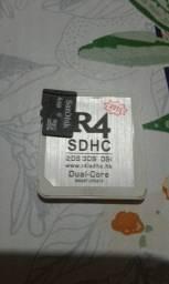Vendo cartão R4  com micro sd SanDisk  de 4g