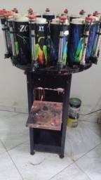 Maquina de pigmentar batedor junto com pigmentos
