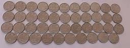Lote 118 moedas antigas de Cruzeiro