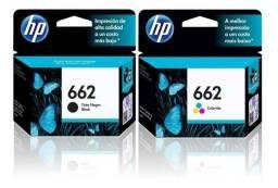 Kit Cartucho de tinta HP 662 preto mais Colorido