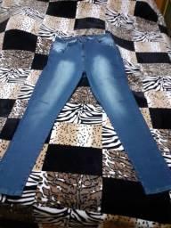 Combo 2 Calças jeans plus size tamanho 48.