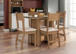 Mesa de jantar 4 cadeiras entrega e montagem imediata