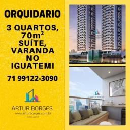 na região do Iguatemi Orquidário, apartamento de 3 quartos, 70m², Brilhante