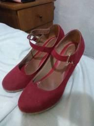 Sapato Vermelho Salto