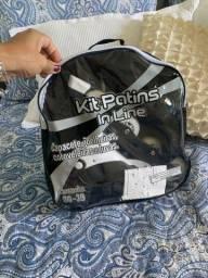 Patins InLine 36 ao 39, kit proteção, sacola, ferramenta é manual