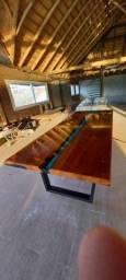 Título do anúncio: Fabricamos Mesas de Madeira Rústica e Resinadas