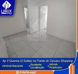 Apartamento de 3 quartos, sendo 2 suíte para locação em Caruaru/PE.