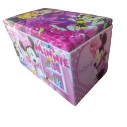Conjunto Baú e cadeirinha infantil Minnie (Novo)