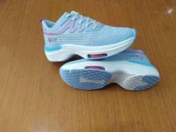 Título do anúncio: Tênis BlackFree Azul/Rosa para caminhada 37- entrego